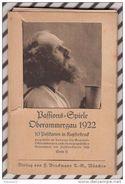 Z722 BAFFIONS EPIELE OBERAMMERGAU 1922   Carnet De 10 Vues 14. X 9.5 CM - Christianisme