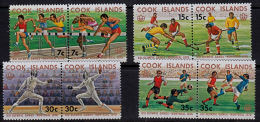 A1217 COOK ISLANDS 1976, SG 547-54  Olympic Games, Montreal,  MNH - Stamps