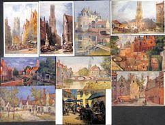 Brugge Bruges - Lot 47 Cartes (Van Hoecke, Jessie Currie, Murchland, Callow,...animation, Couleurs - Brugge