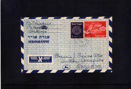 Israel Interesting Aerogramme - Israel