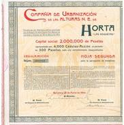 Action Ancienne - Compañia De Urbanización De Las Alturas N. E. De Horta - Titre De 1904 - - Actions & Titres