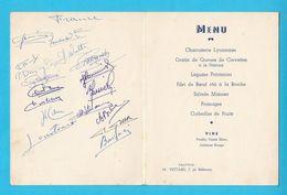FRANCE : YOUGOSLAVIE - 1951. Football Match * AUTOGRAPHS Of French Players HAND SIGNED Autographes Autographen Autografi - Autogramme