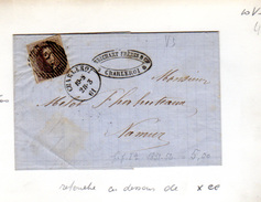 1861  10c Médaillon, 10.V3 Sur Lettre  Pour Connaisseur - 1858-1862 Medallions (9/12)
