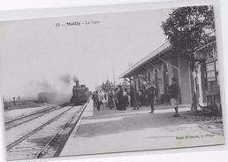 CPA - MAILLY - La GARE. - Gares - Avec Trains