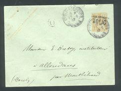 Entier Type Mouchon 15c Sur Enveloppe Tàd L'Isle S Le Doubs 17 06 1907 - Cachet Taxe Réduite 0F,10 - Postal Stamped Stationery