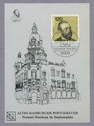 Germany Bund 1984 Maximum Card Maximum Karte Weltpostkongress Hamburg Heinrich Von Stephan UPU - Posta