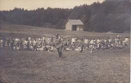 AK Foto Deutsche Soldaten Auf Übungsplatz - Gewehrpyramiden - Feldpost 1915 (31855) - Guerra 1914-18