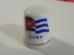 """Dé A Coudre Porcelaine """"Cuba"""" - Thimbles"""