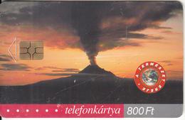 HUNGARY - Volcano, The Power Of Nature, 08/01, Used - Vulkane