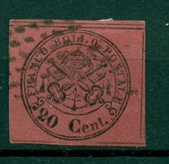 Etats Pontificaux 1867 - Y & T. N. 16 - Armoiries 20 Centimes - Etats Pontificaux