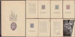 """Berlin: Gedenkheft, Sonderheft, Mi-Nr. 106-09: """" Wiederaufbau Der Kaiser-Wilhelm-Gedächtniskirche """" RR !    X - Storia Postale"""