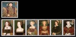 GREAT BRITAIN 1997 King Henry VIII & Wives: Set Of 7 Stamps UM/MNH - 1952-.... (Elizabeth II)