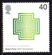 GREAT BRITAIN 2001 Centenary Of The Nobel Prizes 40p: Single Stamp UM/MNH - 1952-.... (Elisabetta II)
