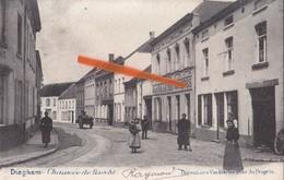 """DIEGHEM - Chaussée De Haecht  -  Superbe Carte Animée Avec Facteur Devant """"A La Salle Des Variétès"""" - Diegem"""
