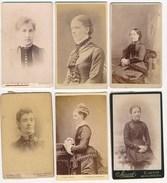 6 CDV Portraits Of Women ± 1880's - Photographs