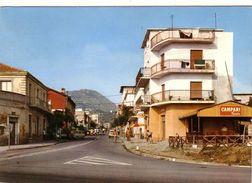 CAMPORA SAN GIOVANNI-COSENZA-VIA NAZIONALE-CARTOLINA VERA FOTOGRAFIA-VIAGGIATA IL 2-8-1971 - Cosenza