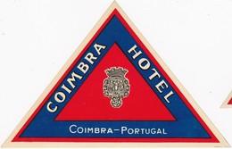 PORTUGAL -  HOTEL LUGAGGE  LABEL - COIMBRA HOTEL - Etiketten Van Hotels