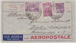 BRAZIL 1933 (4.2.) AIRMAIL COVER (Aeropostale) FRANKING SAO PAULO TO GERMANY - Brésil