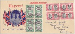 S.RHODESIA UK GB 1947 (2.4.) ENV.ROYAL VISIT FRANKING BULAWAYO TO U.K. - Postcards