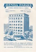 PORTUGAL - HOTEL LUGAGGE LABEL - AVENIDA PARQUE - LISBOA - Hotel Labels