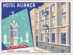 PORTUGAL - HOTEL LUGAGGE LABEL - HOTEL ALIANÇA - FARO - Etiquettes D'hotels
