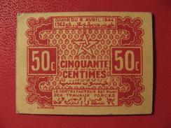 Maroc - 50 Centimes - Empire Cherifien - Dahir Du 6 Avril 1944 9294 - Marruecos