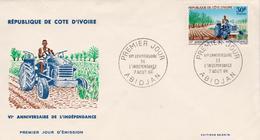 République De CÔTE-D'IVOIRE - FDC 1966 - Enveloppe Illustrée Premier Jour - N° 253 Oblitéré - Ivoorkust (1960-...)