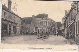 Saint-Benoit-du-Sault - Place Faye - Animé - 1911 - Librairie Péraud - Autres Communes