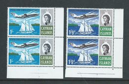 Cayman Islands 1969 Jet Service Opening Set 2 MNH Corner Marginal Pairs - Cayman Islands