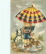 Illustration Enfant Chien Teckel Signé ?  U  1491 - Kindertekeningen