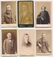 6 CDV Portraits Of Men #5 ± 1880's - Old (before 1900)
