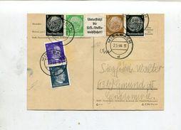 Deutsches Reich / 1944 / Postkarte Mit Int. Zusammendruck-Frankatur (00496) - Germany