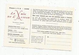 Cp , Publicité , Disques L.V.A. , La Voix De L'Auteur, Les Chefs D'oeuvre Du Théâtre, 1961 , Vierge , 2 Scans - Advertising