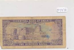 Billets -B2978-Oman -200 Baisa (type, Nature, Valeur, état... Voir  Double Scans) - Oman