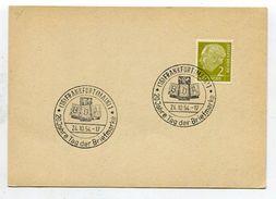 "Bundesrepublik Deutschland / 1954 / SSt. Frankfurt ""Tag Der Briefmarke"" A. Karte (00515) - BRD"
