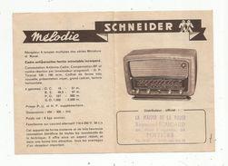 Publicité , Poste De Radio , SCHNEIDER , Adagio , Mélodie , Ivry , Seine, R. Boucaud , POITIERS, 2 Scans - Advertising