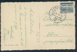 Böhmen Und Mähren #7 Überdruckausgabe Einzelfrankatur Auf Glückwunschkarte Vysoke Myto 11.9.39. Marke Mit üblicher Linie - Briefe U. Dokumente