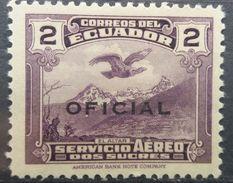Ecuador 1937 MH Andean Condor Over El Altar 2 Sucres Overprint OFICIAL With Gum - Ecuador