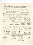 Publicité , G. DAUDE & Cie , Paris , Ferrets, Oeillets, Agraphes , 1929 , Frais Fr 1.45e - Advertising