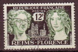 FRANCE - 1956 - YT N° 1061 - Oblitéré - Jumelage Reims- Florence - France