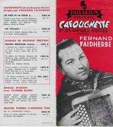 """Publicité Disque Accordéon PALLADIUM """"Cafougnette Et Ses Gueules Noires"""" 1959  Fernand Faidherbe """"chti"""" Du Pas De Calais - Accessories & Sleeves"""