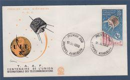 = TAAF Enveloppe 1er Jour N°PA 9 Centenaire De L'Union Internationale Des Télécommunications Archipel Kerguelen 9.5.65 - FDC