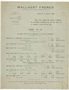 Publicité , WALLAERT FRERES ,LILLE , 1940 , Tarif N° 47, 4 Pages, 2 Scans , Frais Fr 1.45e - Advertising