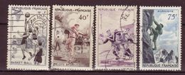 FRANCE - 1956 - YT N° 1072 / 1075 - Oblitérés - Série Sportive - Used Stamps
