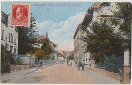 AK GRÜNSTADT Obersülzer Strasse Tinted Timbre Stamp - Gruenstadt