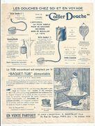 Publicité , Douches Et Baquet-tubs , A. MANTELET FILS , Paris , 79 Rue Turbigo , Frais Fr 1.45e - Publicités