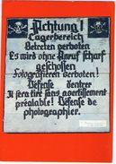 CPM   CAMP DE CONCENTRATION ALLEMAND DE STRUTHOF   MUSEE    PANCARTE POSEE A 1 KM DU CAMP DELIMITANT LE PERIMETRE - Guerre 1939-45