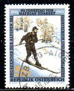 AUTRICHE. N°1827 Oblitéré De 1990. Mathias Zdarsky. - Skiing