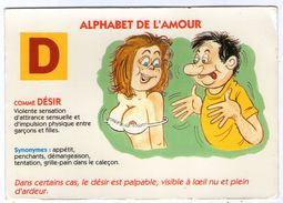 CPM  HUMOUR SEXE   ALPHABET DE L AMOUR     D       COMME DESIR - Humour