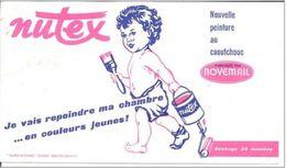Buvard  21 X12  NUTEX  Nouvelle Peinture Au Caoutchouc Fabriqué Par Novémail - Paints